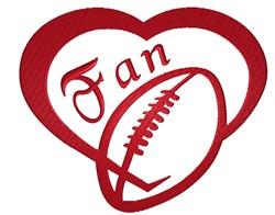Football Fan Heart embroidery design