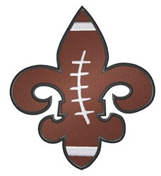 Football Fleur de Lis embroidery design