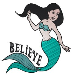 Mermaid Believe embroidery design