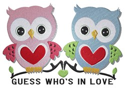 In Love Owls embroidery design