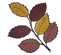 Autumn Leaf Branch embroidery design