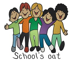 Schools Out embroidery design