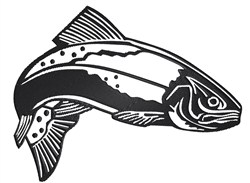 Fish Trout embroidery design