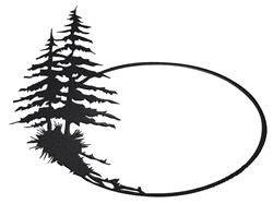 Pine Sign embroidery design