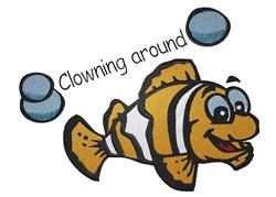 Clownfish Around embroidery design