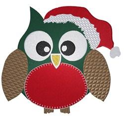Santa Owl embroidery design