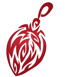 Red Christmas Ornament embroidery design