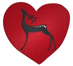 Heart Reindeer embroidery design