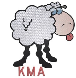 Lamb KMA embroidery design