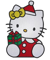 Santa Hello Kitty embroidery design