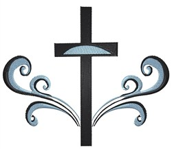Cross With Swirls embroidery design