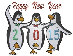Happy 2015 Penguins! embroidery design