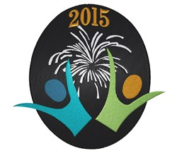 Lets Ring In 2015 embroidery design