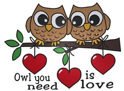 Owl Love You Forever embroidery design