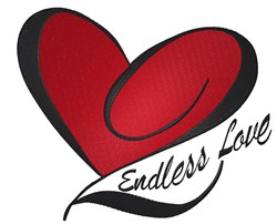 Endless Love Valentine embroidery design
