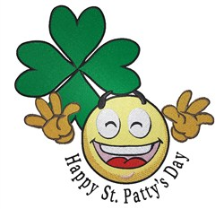 Happy St. Pattys Day embroidery design