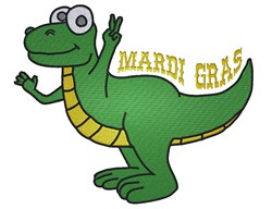 Peace Love Gator Gumbo embroidery design