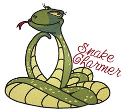Snake Charmer embroidery design