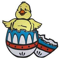Chick  In Egg embroidery design