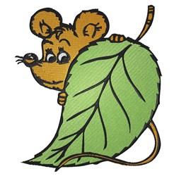 Peekaboo Mouse embroidery design