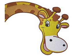 Peeking Giraffe embroidery design