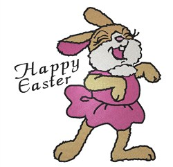 Silly Dancing Easter Bunny embroidery design