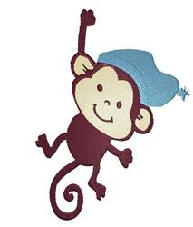 Baby Boy Monkey embroidery design