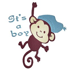 Its A Boy Monkey embroidery design