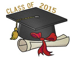 Graduation Class Of 2015 embroidery design