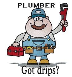 Plumber Got Drips? embroidery design