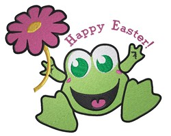 Happy Easter Frog! embroidery design