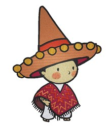 Little Mexican embroidery design