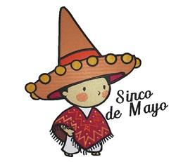 Cinco De Mayo Boy embroidery design