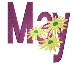 May Flowers embroidery design