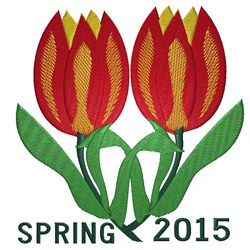 Spring 2015 Tulip embroidery design