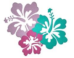 Hawaiian Flowers embroidery design