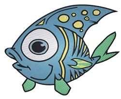 Pretty fish embroidery design