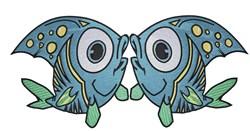 Two Pretty Fish embroidery design
