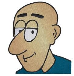 Bald Man embroidery design