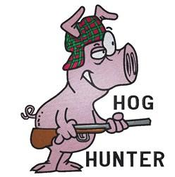 Hog Hunter embroidery design
