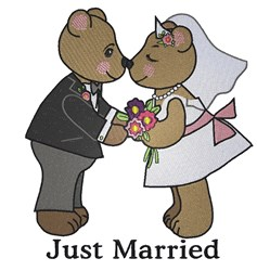 Just Married embroidery design
