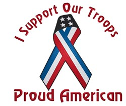 Support Troops embroidery design