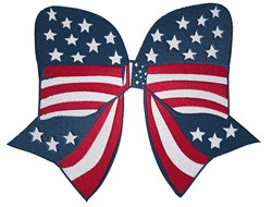 Patriotic Bow embroidery design