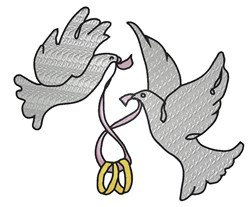 Dove Rings embroidery design