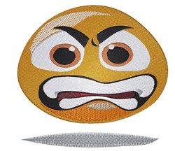 Angry Emoticon embroidery design