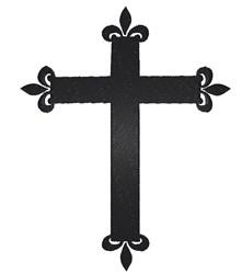 Fleur Cross embroidery design