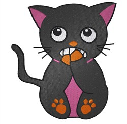 Scared Cat embroidery design