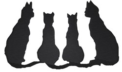 Black Cats embroidery design