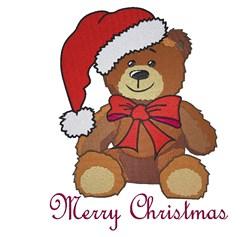 Merry Christmas Teddy Bear embroidery design