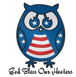 God Bless Our Hooters embroidery design